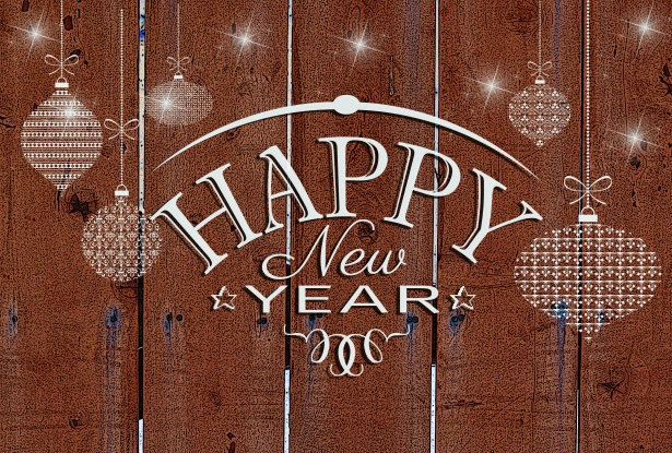 new year fence brown